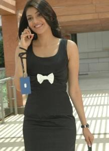 Kajal Agarwal in black dress