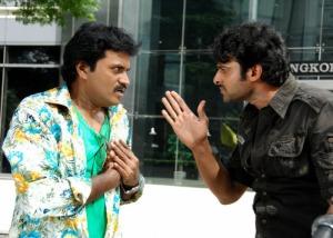 Prabhas and Sunil in Ek Niranjan