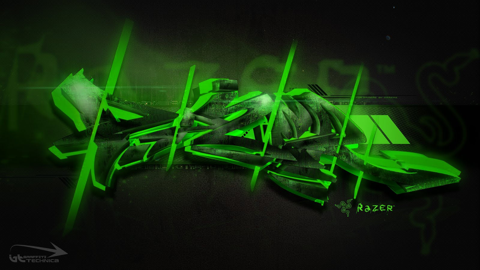 Asus Green Wallpaper: Razer Wallpaper HD