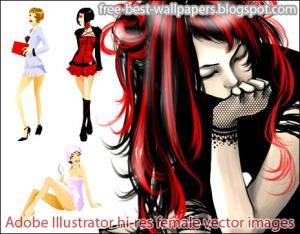 Download Free Best Windows XP-VISTA Wallpapers-Adobe Illustrator hi-res female vector images